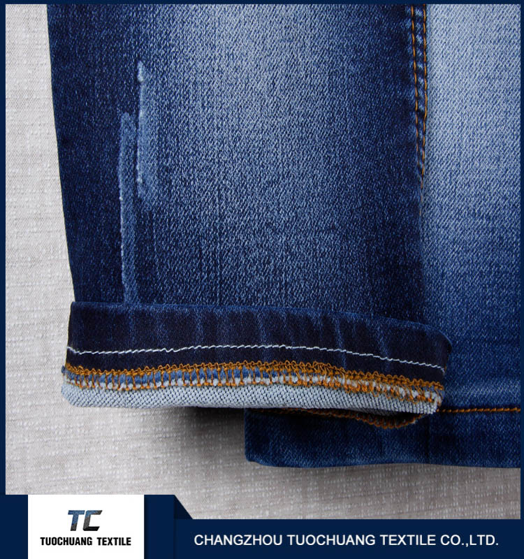 cotton polyester viscose spandex denim fabric