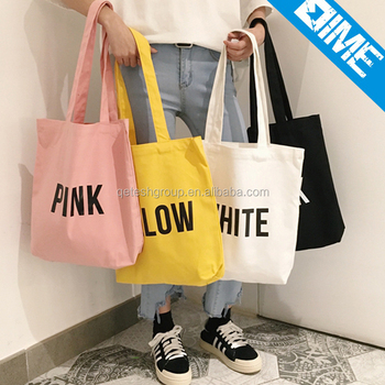 Customized Printing Big Cotton Canvas Tote Bag
