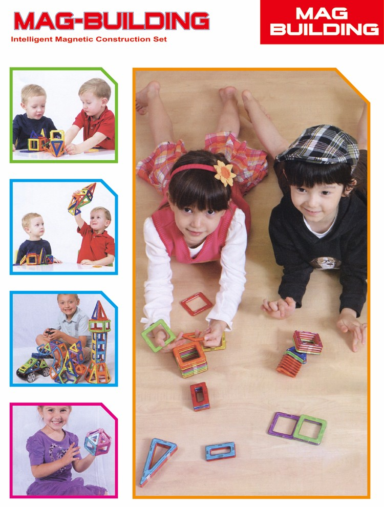 Customized mag toy plastic children's magnetic building blocks