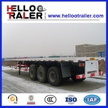 Three Axles 40ft Container Flat Bed Truck for Sale