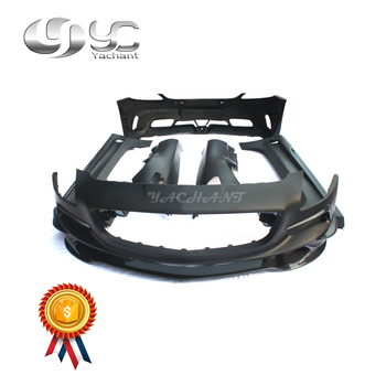 Trade Assurance FRP Portion Carbon Fiber Body Kit Fit For MB R197 SLS-Class YC Design BS Style Front Bumper Side Skirts Fender
