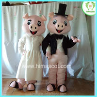 HI CE standard lovely couples sex pig mascot costum china for adults