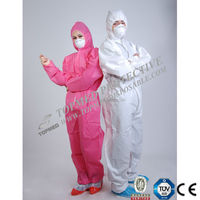Disposable Waterproof Microporous Heat Seal Ebola Coverall