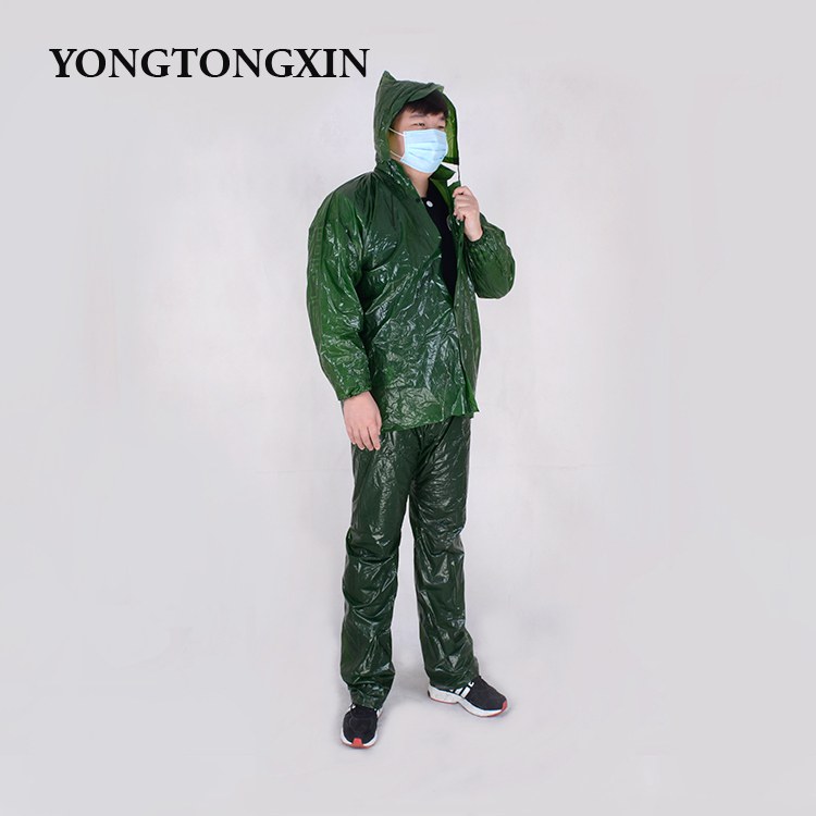 Latest design High quality good price fashionable flickr pvc men's rainwear