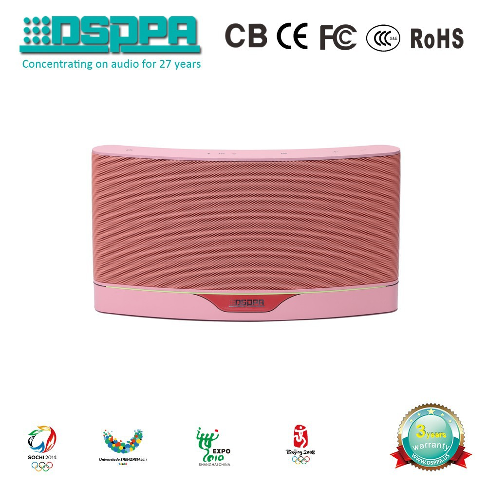 DSPPA DSP818 Pink with Aux Audio Source input Wireless Bluetooth Wifi Speaker