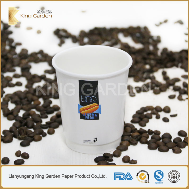 double wall hot coffee cups paper with sleeves