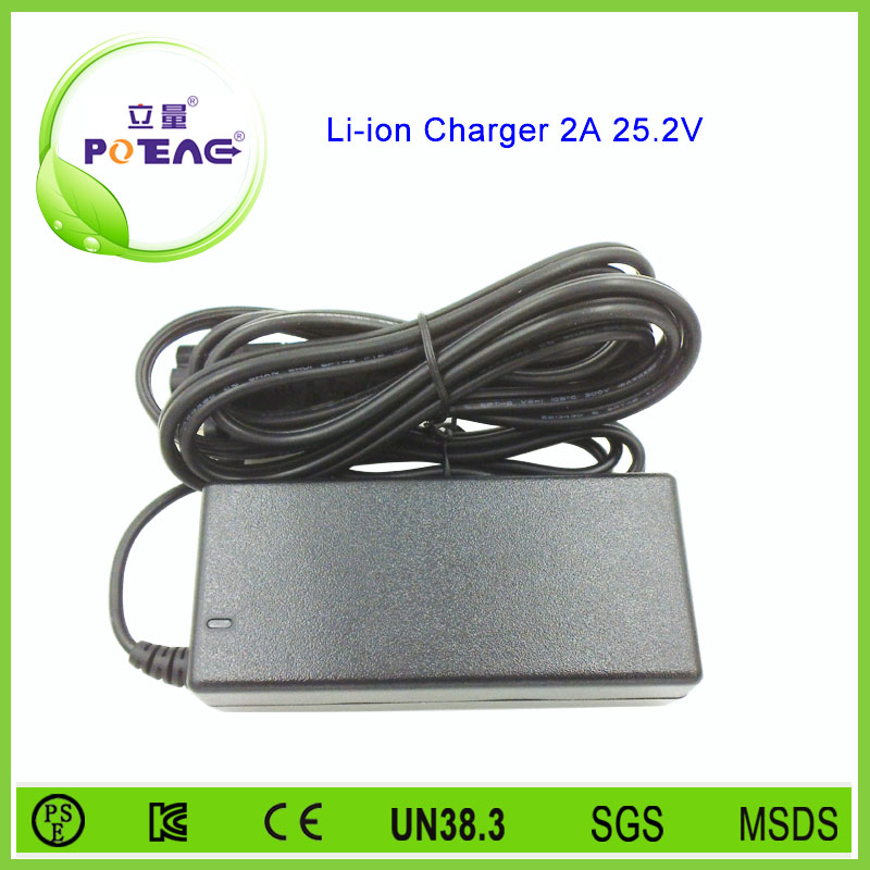 Low MOQ 25.2V 2a super power lithium battery charger