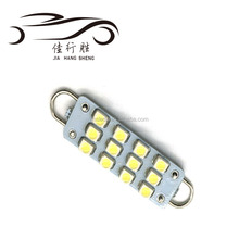 Festoon 31mm 36 mm 39mm 41mm 12SMD 1210 LED Super White Festoon led light Dome 12LED Car Light Bulb Lamp