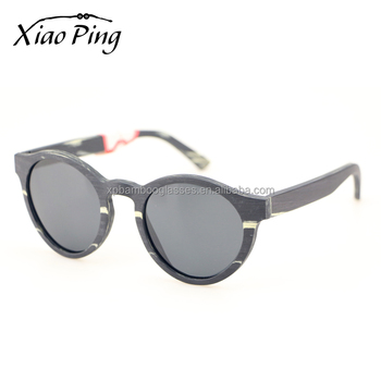 american brand high quality custom round spring hinge wood sunglasses