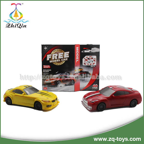 Multifunctional enlighten bricks car toy kids car racing games brain toy with competitive price