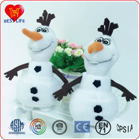 Hot selling promotional stuffed snowman olaf toys, new custom plush toy for kids (PTAL1608045)