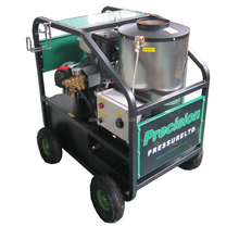 Gasoline engine hot/cold water high pressure washer