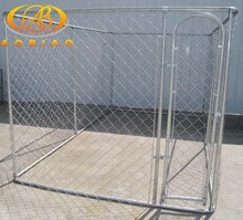 "11-1/2 gauge galvanized chain link 2-1/2"" mesh double dog kennel"