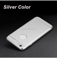 Newest Hybrid Material Silver Color PC Back Cover Case for iPhone 6S Plus