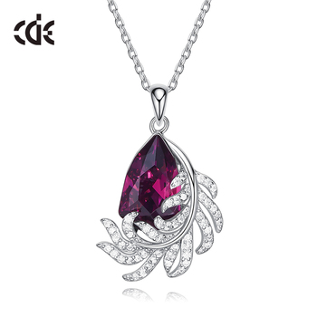 embellished with crystals from Swarovski Amethyst 925 Sterling Silver Pendant