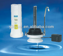 2 stages water filter system UV counter top