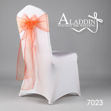 50pcs wedding chair sash for banquet organza sash decoration for spandex chair cover with bow organza sash for hotel party event