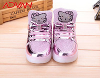 2016 Hot Colorful Fashion Night Hello Kitty LED Shoes for Girl Wholesale