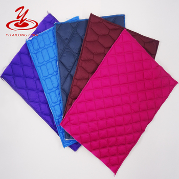 Polyester Batting Laminated Nylon Coat Quilted Fabric