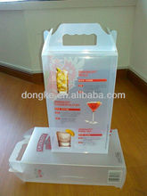 transparent wine glass packaging boxes