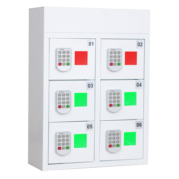 non-coin operated 6 doors/ports charging station locker for sports arenas and concert halls