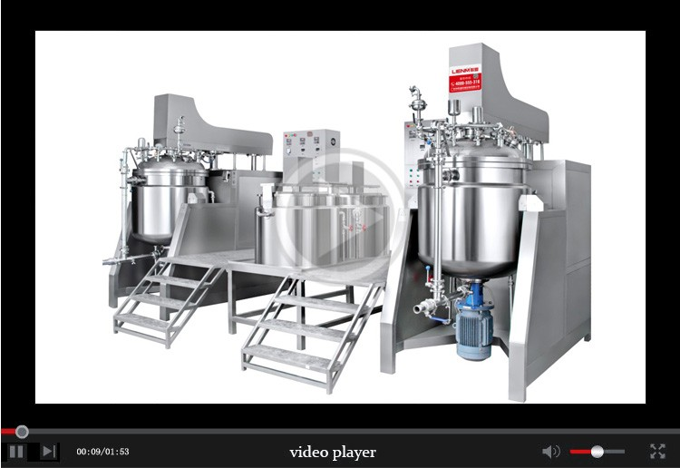 Cosmetic Cream Vacuum Mixer Making Homogenizer Emulsifier Machinery