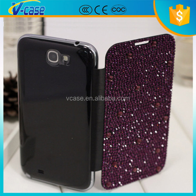 New arrival high quality battery back cover leather for Samsung galaxy note 2 n7100