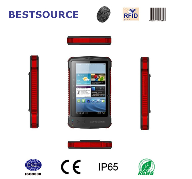 "7.0"" Qualcomm Quad Core 8GB GPS Wifi 3G IP65 rugged tablet rfid reader fingerprint mini barcode scanner for android tablet pc"