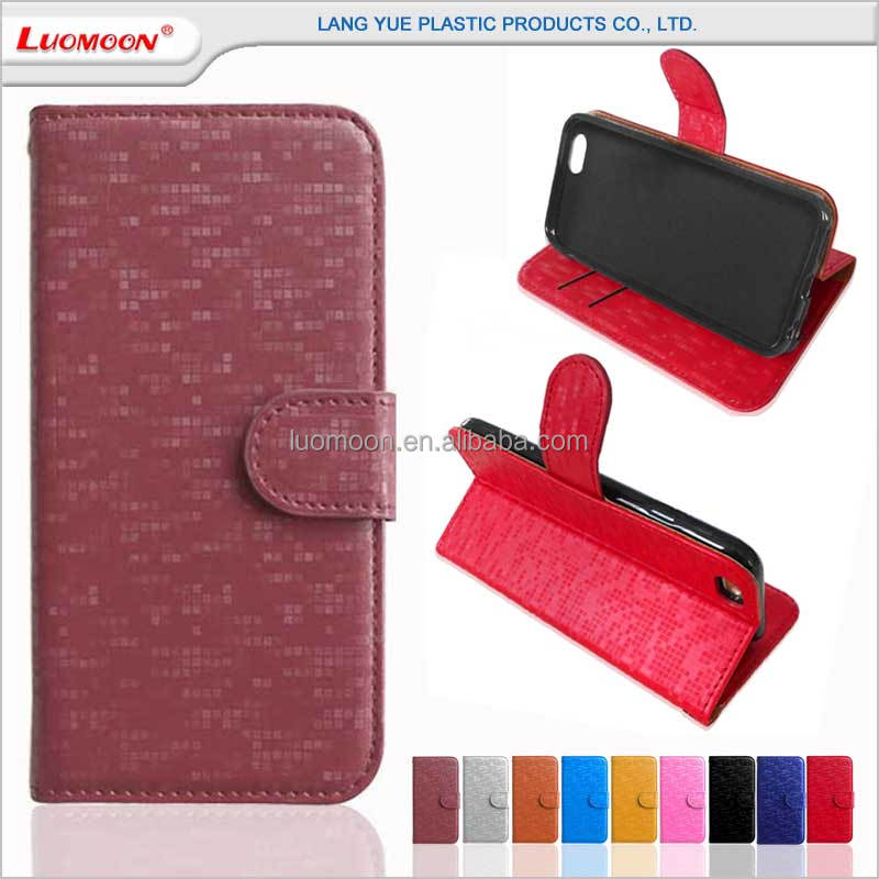 Diamond pattern fold holster wallet style leather case for iphone6 for iphone 4 4s 5 5s 5c 6 6s 7 7s plus se