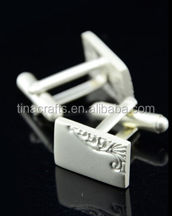 Imitate silver and gold cufflinks
