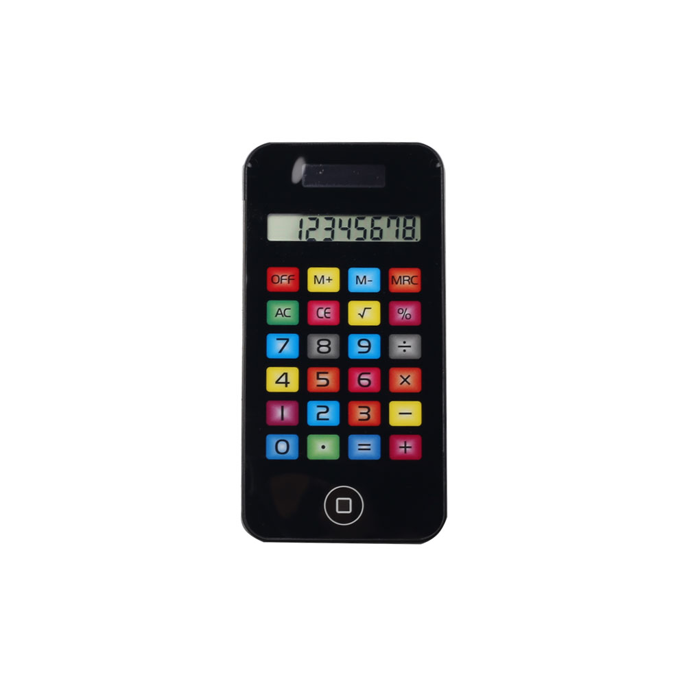 8 Digits Iphone Shape Colorful Button Touch Screen Pocket Calculator