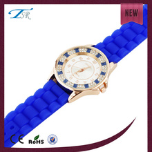 Classic quartz diamond watches &women silicone watch diamond women watch