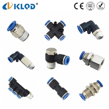 Pneumatic Fitting Brass Plastic Quick Connector 6mm Hose Fitting
