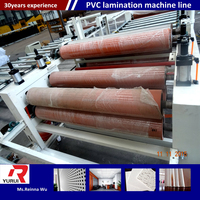 2016 advanced technology gypsum ceiling board production line pvc laminated gypsum tiles machine