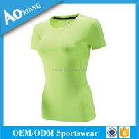 100% cotton fashion t-shirt for women spandex blank t-shirt with oem