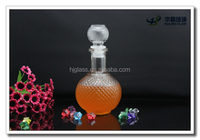 450ml 16oz embossed grenade-shaped glass wine bottle with glass lid wholesale