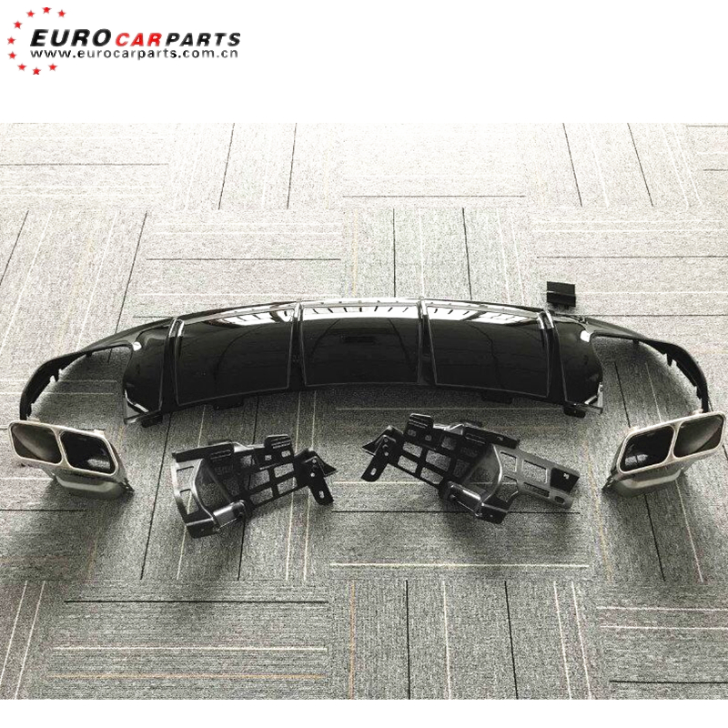 <strong>W117</strong> CLA45 diffuser 2017y fit for MB CLA-class <strong>W117</strong> sport line 16-17y to CLA45 diffuser with exhaust tips PP diffuser for CLA45