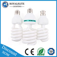 high quality full spiral 20W T3 E27 6500K energy saving lamp/ Energy saver light raw material factory