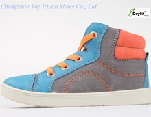 Comfortable fit classic popular suede Grey hot selling kids sneakers shoes PU Injection blue footwear