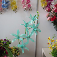 artificial orchid single wholesale artificial orchid flowers high quality aqua phalaenopsis orchid for wedding decor