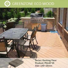 natural style outdoor garden durable crack-resistant wpc trailer decking