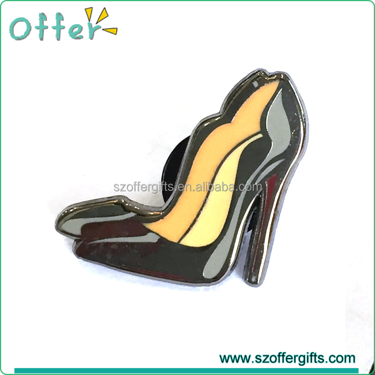 Custom Heels Shoe Hard Enamel Lapel Pin Badge