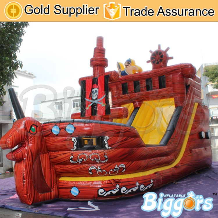 Giant Pirate Ship Model Slide Corsair Inflatable Slide with Dragon