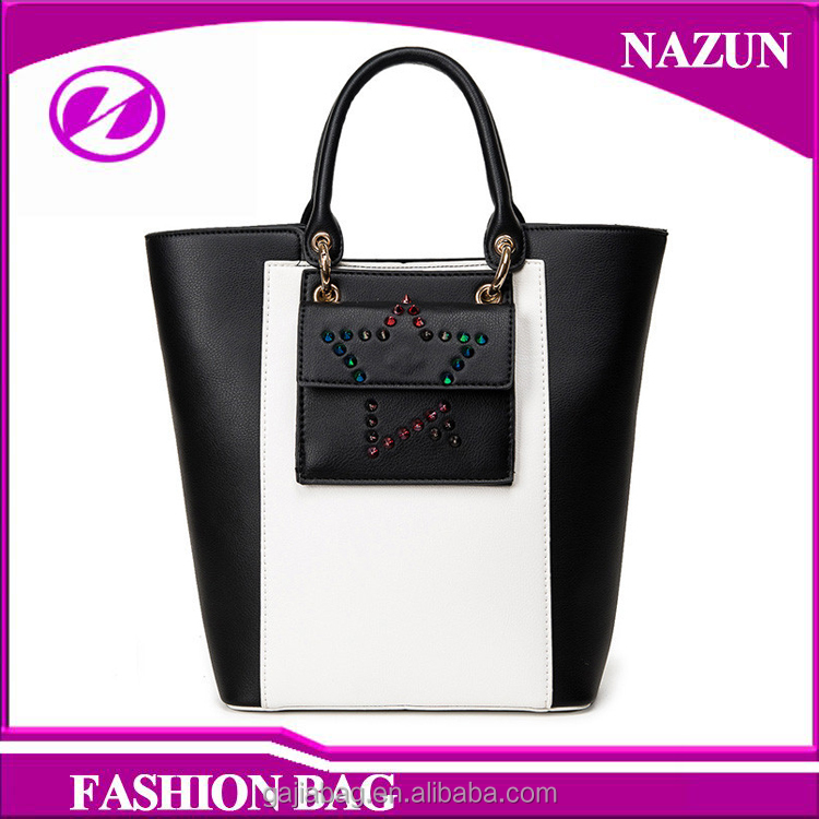 2016 designer star-studded flap new trendy custom lady tote bags wholesale