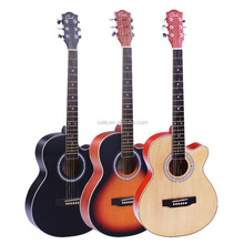 deviser colour acoustic guitar made in China factory price excel wood guitar