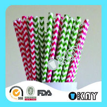 2015 Hot Selling Wedding Baby Shower Red Paper Straws For Birthday