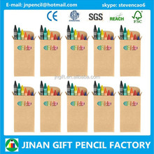 Eco-friendly 6 pc Children Wax Crayon/Wax Crayon Supplier