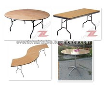 top quality wooden banquet folding table for wholesale