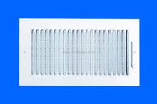 One way deflection ceiling sidewall and duct steel air gregister with muli-louver damper
