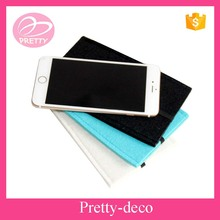 Polyester cell phone bag mobile phone carry bag with felt material